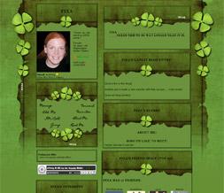 St Patricks Day Layout - Green Shamrock Myspace Layout