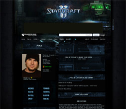 Starcraft 2 Myspace Layout-Game Layouts-Gamer Themes-Gaming Background