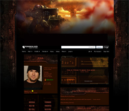 Starcraft Myspace Layout- Game Background- Gamer Layout - Gaming Theme