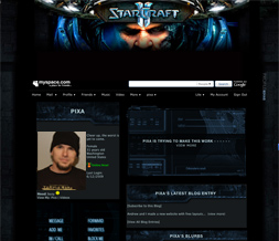 Starcraft 2 Myspace Layout-Gaming Layouts-Gamer Backgrounds-Guy Themes