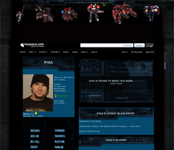 Starcraft 2 Layout - Gamer Myspace Layout - Guy Gaming Themes