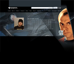 Star Trek Hide Everything Scotty Layout - Kirk Star Trek Designs from the New Movie
