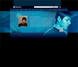 Spock Star Trek Layout - Hide Everything Star Trek Layout with Spock
