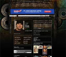 Steampunk Skinny Myspace Layout - Dark Background - Steampunk Art Theme