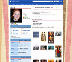 Pink & Brown Stripes Default Layout - Pink Striped Default Myspace Theme
