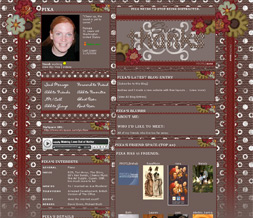 Girly Thanksgiving Myspace Layout - Thanksgiving Themes