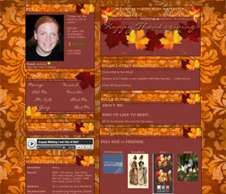 Thanksgiving Leaves Layout - Thanksgiving Myspace Design