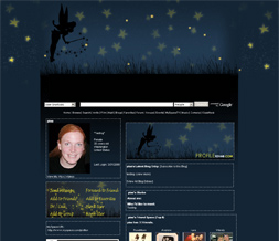 Tinkerbell Myspace Layout-Disney Theme-Stars Layout-Night Stars Theme