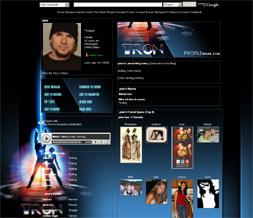 Tron Myspace Layout - Movie Background - Movie Myspace Theme