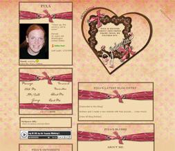 Pink Polkadotted Valentines Layout - Pink Valentines Myspace Design