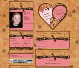Happy Valentines Layout - Happy V-day Myspace Theme