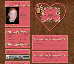 Brown & Pink Valentines Day Layout - Brown Valentines Theme