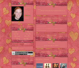 Pink & Yellow Hearts Myspace Layout - Yellow & Pink Valentines Layout