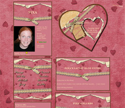 Happy Valentines Myspace Layout - Happy Valentines Day Theme