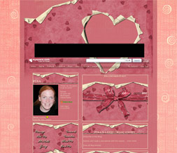 Pink Hearts Myspace Layout - Pink Hearts Theme - Valentines Background