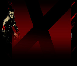 Black & Red Wolverine Layout - Red & Black X-Men Myspace Layout