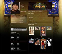 World of Warcraft Myspace Layout-WOW Alliance Background-Gaming Layout