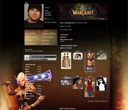 WOW Myspace Layout- WOW Blood Elf Background- Gaming Layout
