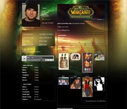World of Warcraft - Burning Crusade Myspace Layout - WOW Backgrounds