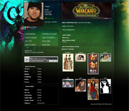 World of Warcraft Theme-Burning Crusade Myspace Layout-WOW Backgrounds
