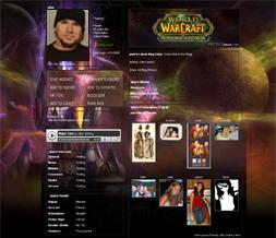 Burning Crusade Myspace Layout - WOW Backgrounds - Warcraft Theme