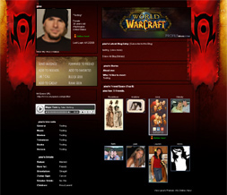 World of Warcraft Myspace Layout-WOW Horde Background-Gaming Layouts