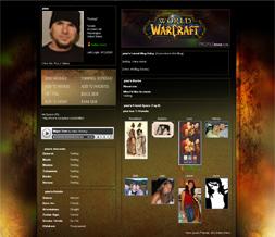 World of Warcraft Myspace Layout - WOW Backgrounds - Gaming Layouts