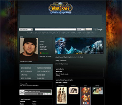 Wrath of the Lich King Myspace Layout - WOW Backgrounds - WOW Theme