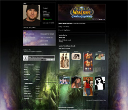 Wrath of the Lich King Myspace Layout - WOW Background - WOW Layout