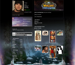 Wrath of the Lich King Myspace Layout- WOW Backgrounds- Warcraft Theme