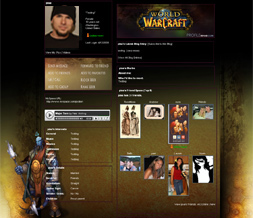 World of Warcraft Myspace Layout- WOW Mage Backgrounds- Gaming Layouts