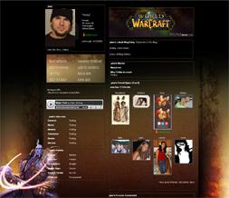 World of Warcraft Layout-WOW Paladin Background-Myspace Gaming Layouts