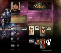 World of Warcraft Myspace Layout-WOW Shaman Backgrounds-Gaming Layouts
