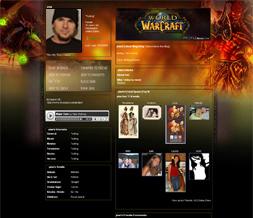 World of Warcraft Myspace Theme-WOW Sunstrider Layout-Gaming Layouts