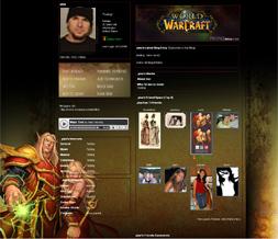 World of Warcraft Myspace Layout - WOW Warlock Theme - Gaming Layout