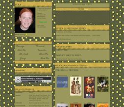 Yellow Star Myspace Layout - Green & Yellow Stars Layout