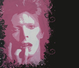 Black & Pink David Bowie Twitter Background - David Bowie Theme for Twitter
