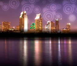 Coronado Twitter Background - San Diego Skyline Design for Twitter