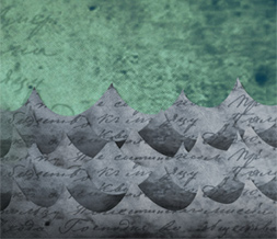Artistic Waves Twitter Background - Vintage Twitter Background with Ocean Waves
