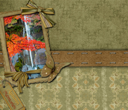 Autumn Memories Twitter Background - Fall Quote Design for Twitter