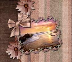 Beach Sunset Twitter Background - Mauve Scenic Design for Twitter