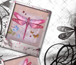 Black & White Dragonfly Twitter Background - Pink & Black Dragonflies Theme for Twitter Preview
