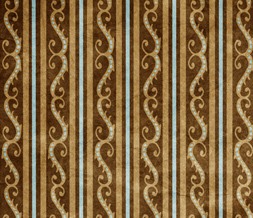 Turquoise & Brown Vintage Twitter Background - Brown Stripe Design for Twitter