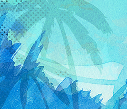 Blue Palm Tree Twitter Background Preview