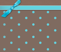 Blue & Brown Polka Dots Twitter Background - PolkaDotted Background for Twitter