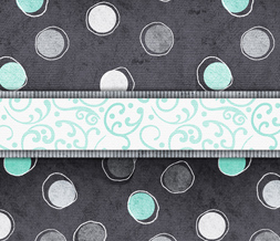 Free Gray & Blue Polkadots Twitter Background - Cute Polkadotted Theme for Twitter