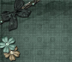 Free Blue & Brown Vintage Twitter Background - Blue Vintage Theme for Twitter
