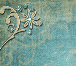 Pretty Blue Winter Twitter Background - Blue & Brown Flower Design for Twitter