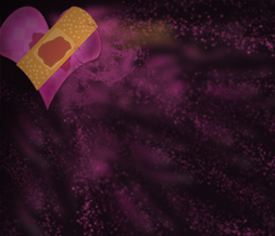 Pink & Black Broken Hearts Twitter Background- Heart Theme for Twitter