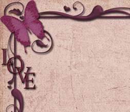 Pink & Purple Love Twitter Background-Maroon Butterfly Theme for Twitter